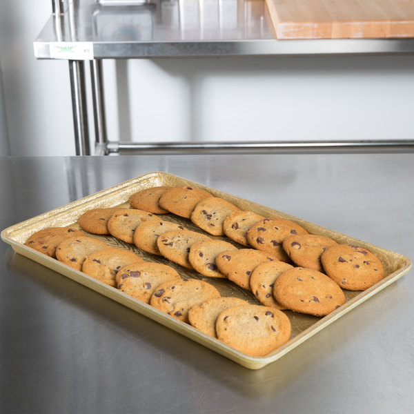 "MFG Tray 334002 1053 18"" x 12"" Goldtex Fiberglass Supreme Bakery Display Tray Main Image 6"