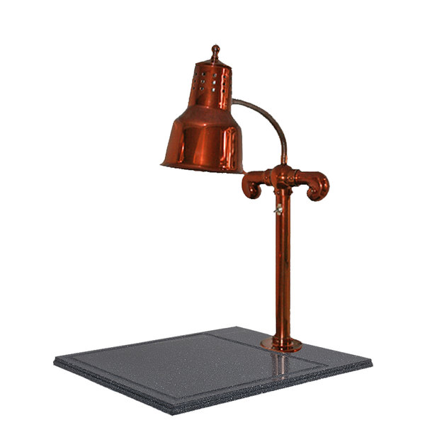"Hanson Heat Lamps SLM/BB/SC Single Lamp 18"" x 20"" Smoked Copper Carving Station with Synthetic Granite Base"