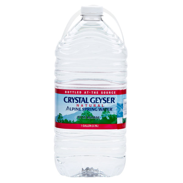 Crystal Geyser 1 Gallon Natural Spring Water - 6/Case
