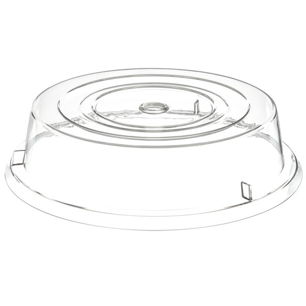 """Carlisle 199307 10 3/4"""" to 11"""" Clear Plate Cover - 12/Case Main Image 1"""