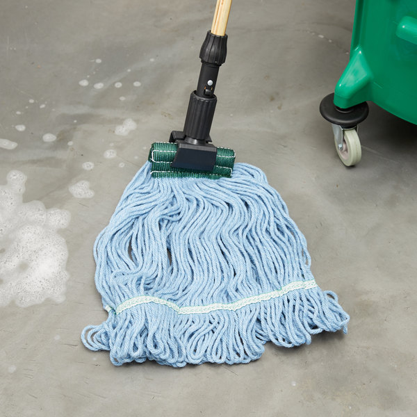 """Continental Wilen A02602 J.W. Atomic Loop™ 24 oz. Blue Blend Loop End Mop Head with 5"""" Band"""