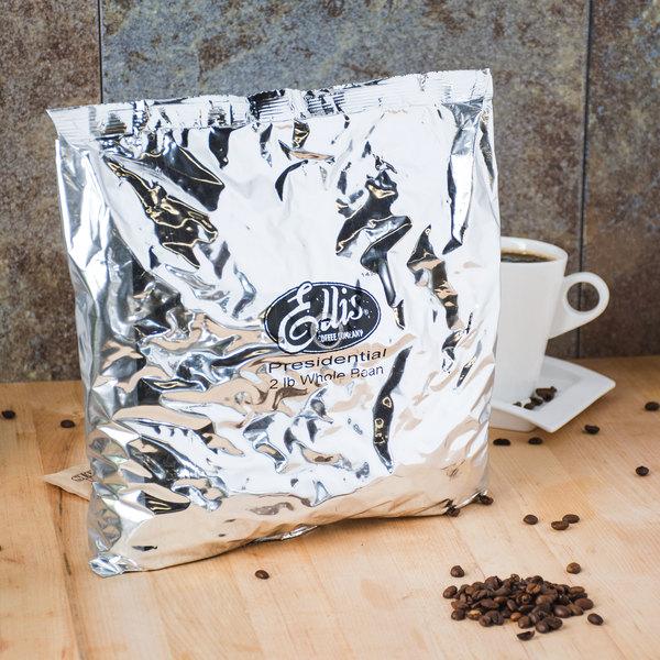 Ellis 2 lb. Presidential Regular Whole Bean Coffee - 10/Case