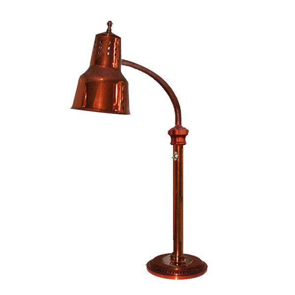 """Hanson Heat Lamps ESL-RB-7-SC Single Bulb Freestanding Heat Lamp with Smoked Copper Finish - 7"""" Round Base"""