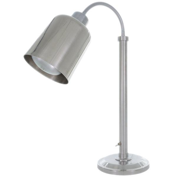 Hanson Heat Lamps SLM/700/ST Stainless Steel Flexible Streamline Single Bulb Freestanding Heat Lamp