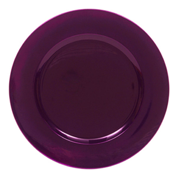 """The Jay Companies 13"""" Round Purple Polypropylene Charger Plate"""