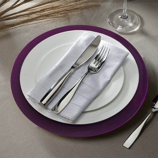 "The Jay Companies 1320085 13"" Round Purple Plastic Charger Plate"