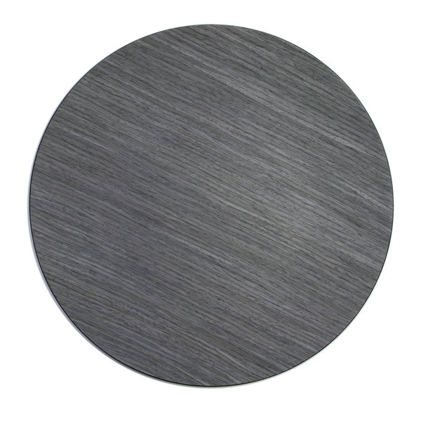 """The Jay Companies 1270004 13"""" Round Gray Pine Faux Wood Charger Plate"""