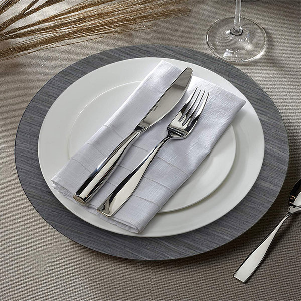 """The Jay Companies 1270004 13"""" Round Gray Pine Faux Wood Plastic Charger Plate"""