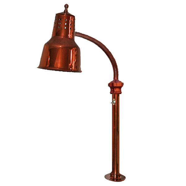 Hanson Heat Lamps ESL/FM/SC Single Bulb Flexible Heat Lamp with Smoked Copper Finish