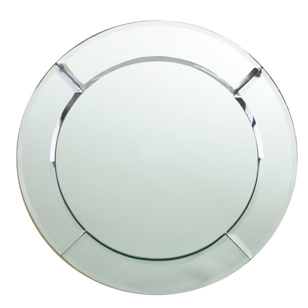 """The Jay Companies 1330051 13"""" Round Glass Mirror Charger Plate"""