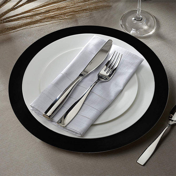 """The Jay Companies 1270028 13"""" Round Black Plastic Charger Plate"""