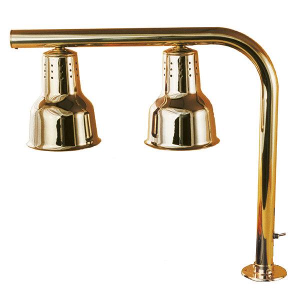 Hanson Heat Lamps FLD/FM/BR Dual Bulb Heat Lamp with Brass Finish Main Image 1