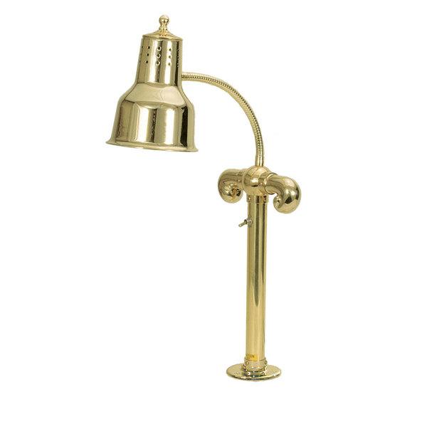 Hanson Heat Lamps SL/FM/BR Brass Single Bulb Flexible Mounted Heat Lamp with Polished Brass Finish