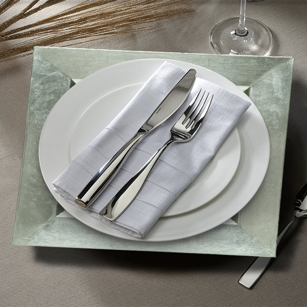 """The Jay Companies A81HR-13 13"""" x 13"""" Square Silver Plastic Charger Plate"""