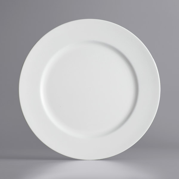 """The Jay Companies 1428008BK 13"""" Round White Plastic Charger Plate"""