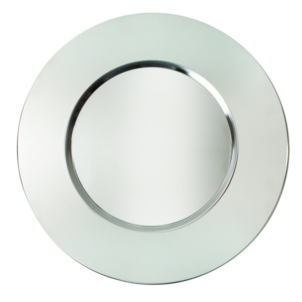 """The Jay Companies 13"""" Round Bridal Stainless Steel Charger Plate"""