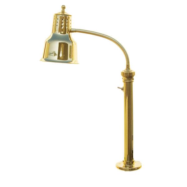 Hanson Heat Lamps ESL/FM/BR Single Bulb Flexible Heat Lamp with Brass Finish
