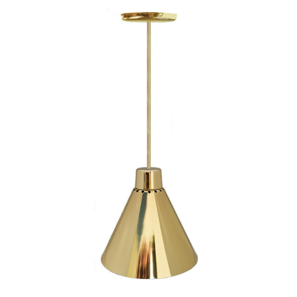 Hanson Heat Lamps 400-SMT-BR Rigid Ceiling Mount Heat Lamp with Brass Finish