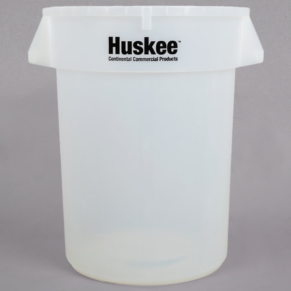 Continental 3200CL Huskee 32 Gallon Clear Ingredient Bin / Trash Can