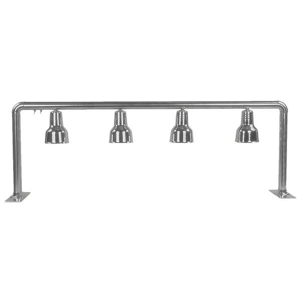 "Hanson Heat Lamps 4-FS 68"" x 21"" Freestanding Four Bulb Food Warmer"