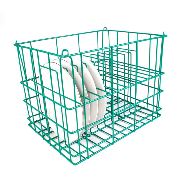 """14 Compartment Catering Plate Rack for Square Plates up to 8 1/4"""" - Wash, Store, Transport"""