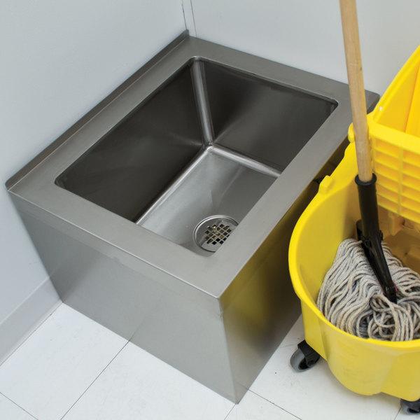 "Advance Tabco 9-OP-40 16"" x 20"" x 12"" Floor Mounted Mop Sink"