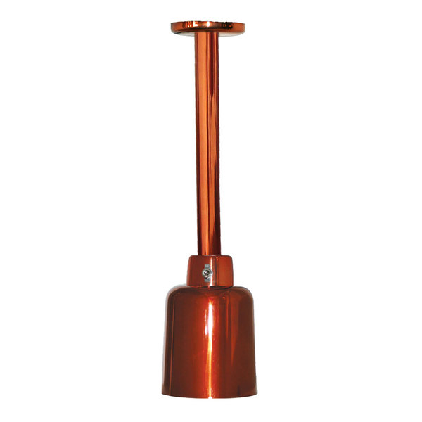 Hanson Heat Lamps 700-LGT-SC Rigid Ceiling Mount Heat Lamp with Smoked Copper Finish