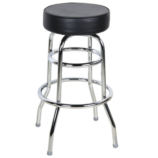 Lancaster Table Seating Double Ring Bar Stool Black