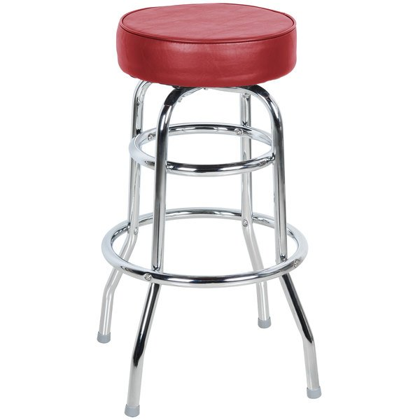 Swell Lancaster Table Seating Crimson Double Ring Barstool With 3 1 2 Thick Seat Machost Co Dining Chair Design Ideas Machostcouk