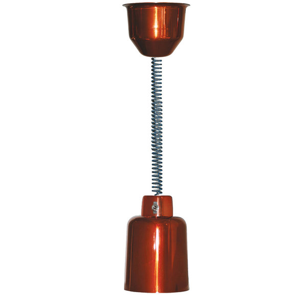 Hanson Heat Lamps 700-RET-SC Retractable Cord Ceiling Mount Heat Lamp with Smoked Copper Finish
