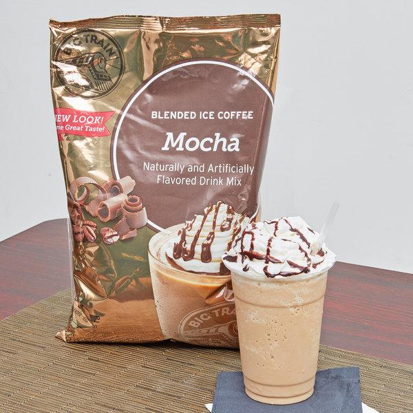 Big Train Mocha Blended Ice Coffee Mix - 3.5 lb.