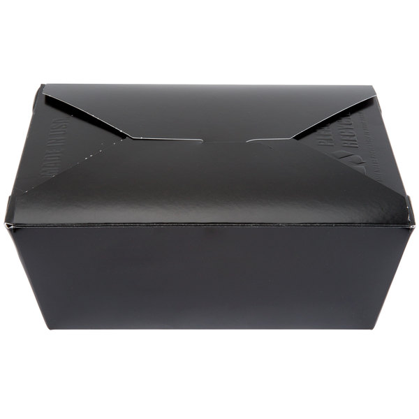 Southern Champion 784 8 inch x 6 inch x 4 inch ChampPak Retro Black Paper #4 Take-Out Container - 160/Case