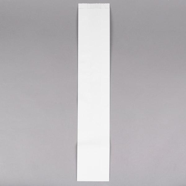 4 1/2 inch x 2 1/2 inch x 24 inch Plain Unwaxed Baguette Paper Bread Bag - 1000/Case
