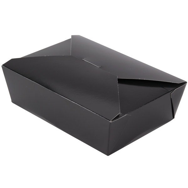 Southern Champion 783 8 inch x 6 inch x 3 inch ChampPak Retro Black Paper #3 Take-Out Container - 200/Case