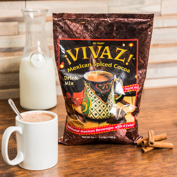 Big Train Vivaz Mexican Spiced Cocoa Drink Mix - 3.5 lb.