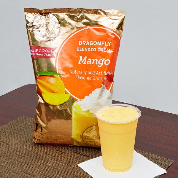 Big Train Dragonfly Mango Blended Creme Frappe Mix - 3.5 lb.