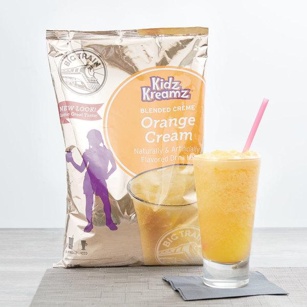 Big Train 3.5 lb. Orange Cream Kidz Kreamz Blended Creme Frappe Mix Main Image 2