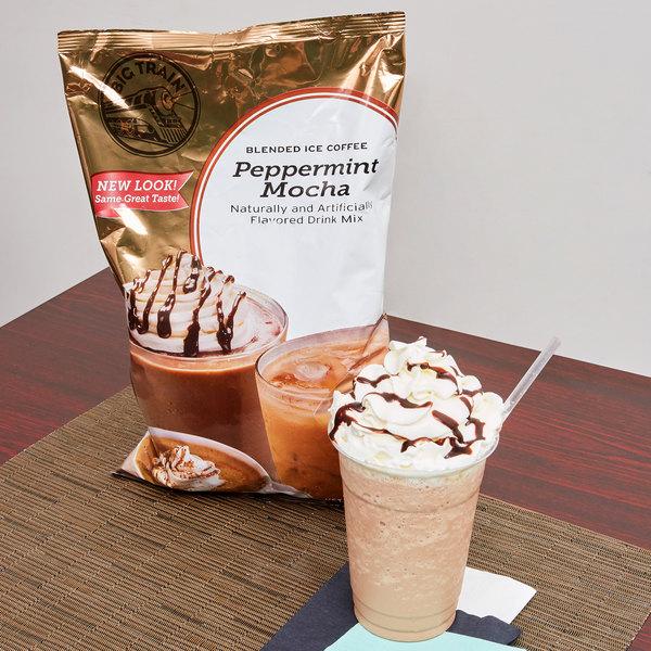 Big Train Peppermint Mocha Blended Ice Coffee Mix - 3.5 lb.