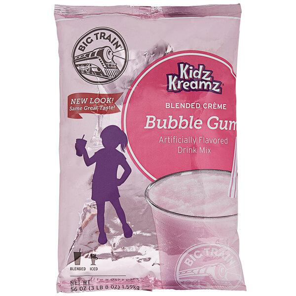Big Train 3.5 lb. Bubble Gum Kidz Kreamz Blended Creme Frappe Mix Main Image 1