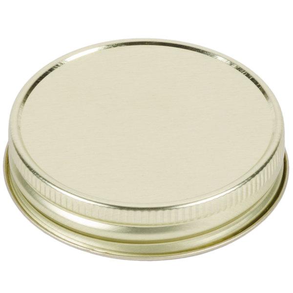 Libbey 92136 Gold Metal Drinking Jar Lid - 12/Pack