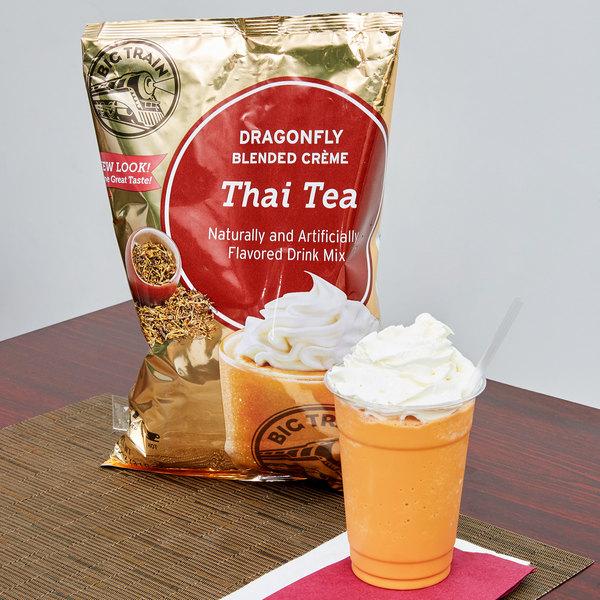 Big Train 3.5 lb. Dragonfly Thai Tea Blended Creme Frappe Mix
