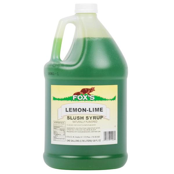 Fox's 1 Gallon Lemon-Lime Slush Syrup  - 4/Case