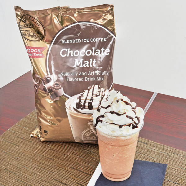 Big Train Chocolate Malt Blended Ice Coffee Mix - 3.5 lb.
