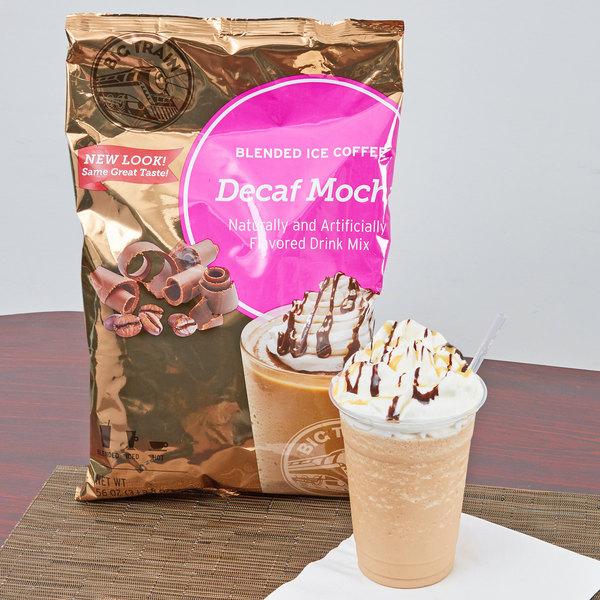 Big Train 3.5 lb. Decaf Mocha Blended Ice Coffee Mix