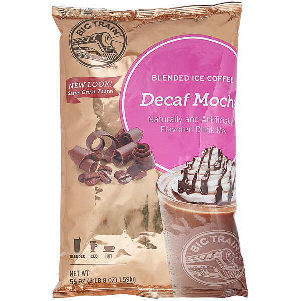 Big Train 3.5 lb. Decaf Mocha Blended Ice Coffee Mix Main Image 1