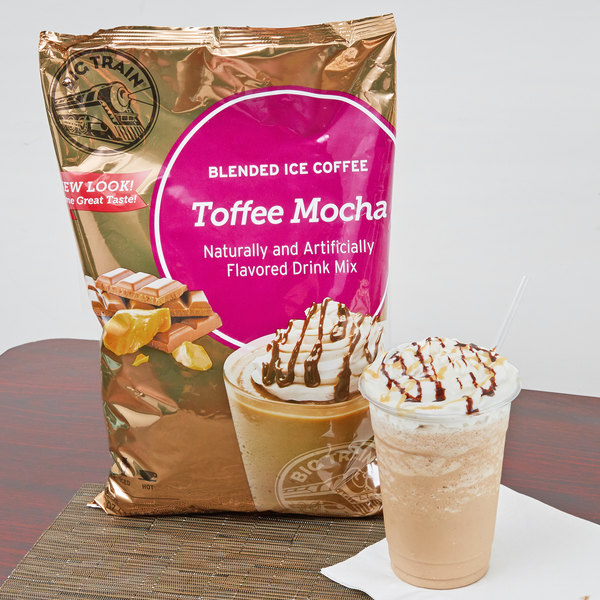 Big Train 3.5 lb. Toffee Mocha Blended Ice Coffee Mix Main Image 2