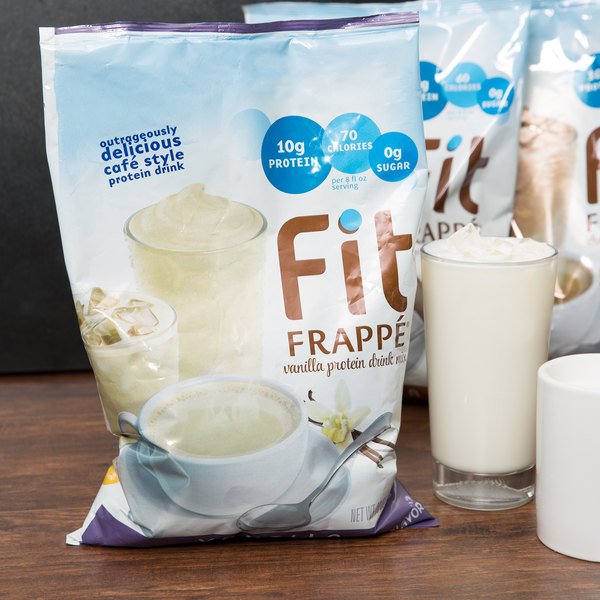 Big Train 3 lb. Fit Frappe Vanilla Protein Drink Mix Main Image 2