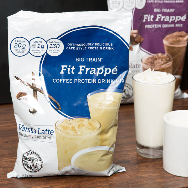 Big Train 3 lb. Fit Frappe Vanilla Latte Protein Drink Mix