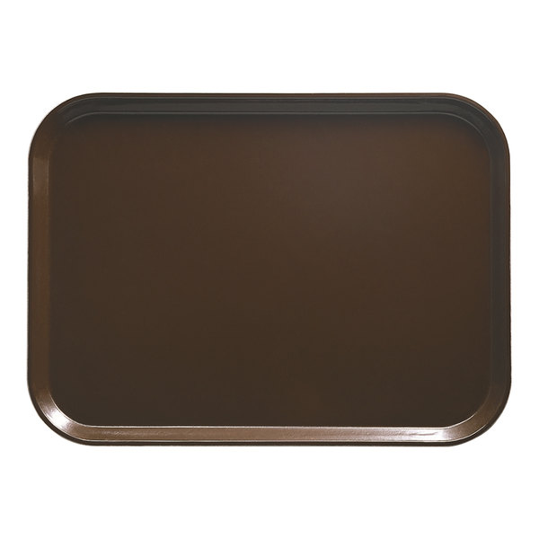 "Cambro 2025116 20 3/4"" x 25 9/16"" Rectangular Brazil Brown Customizable Fiberglass Camtray - 6/Case"
