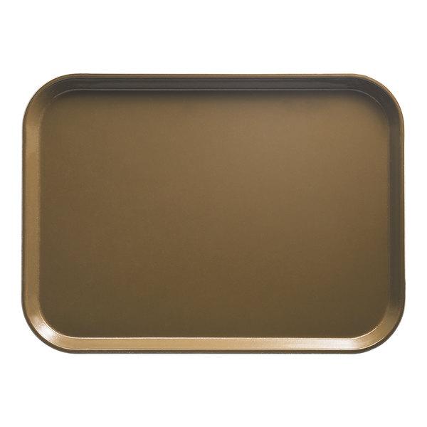 "Cambro 2025513 20 3/4"" x 25 9/16"" Rectangular Bay Leaf Brown Customizable Fiberglass Camtray - 6/Case"